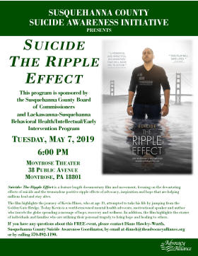 Suicide The Ripple Effect Flyer