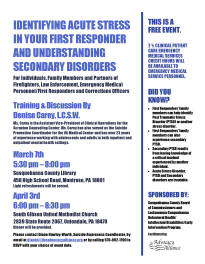 Susquehanna County Suicide Awareness Initiative First Responders Training