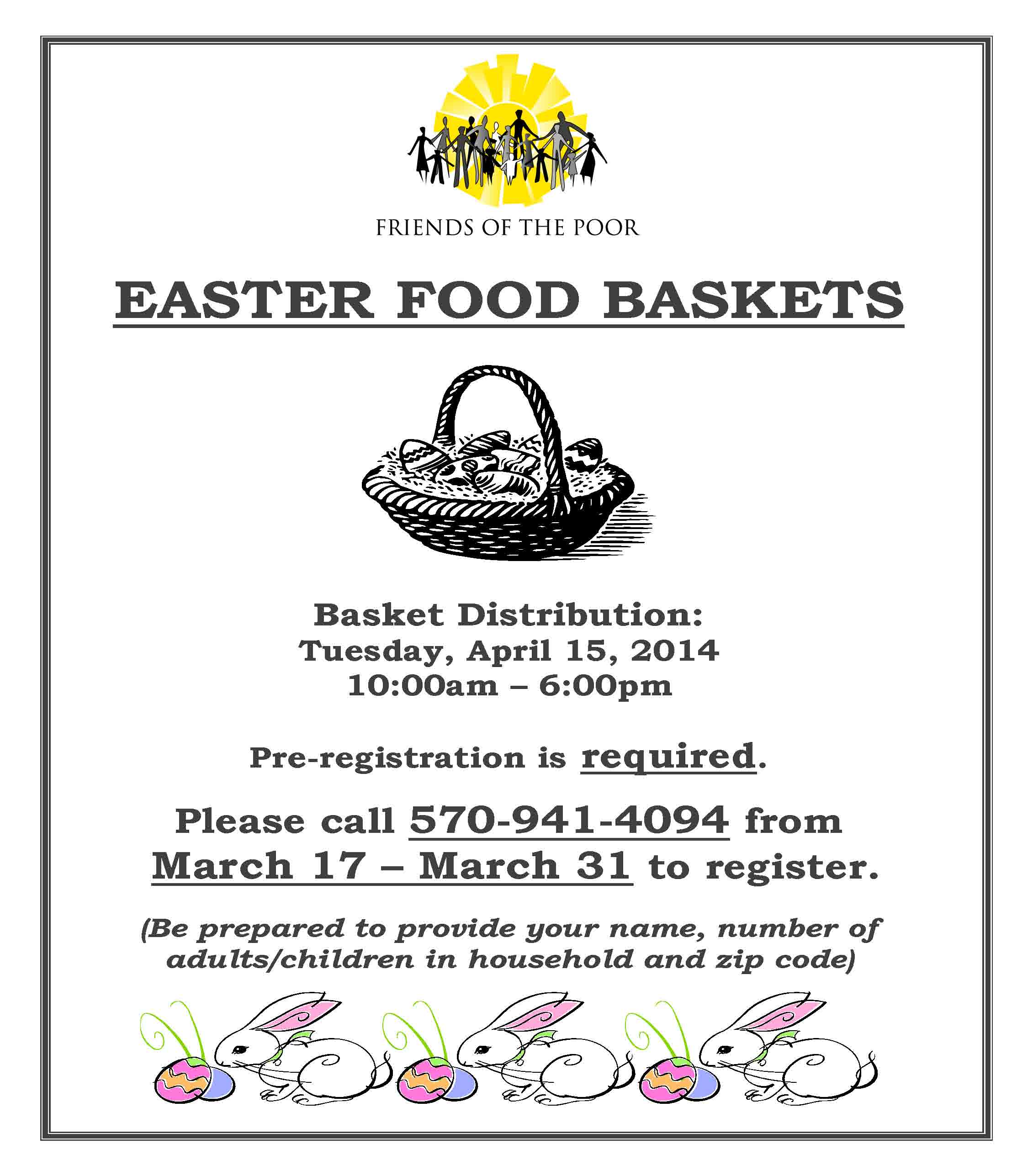 Easter Food Giveaway Flyer 2014 Pdf