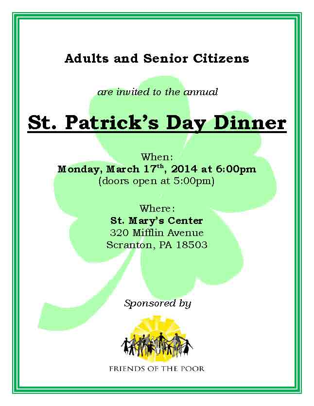 St. Pats Dinner Flyer 2014 final