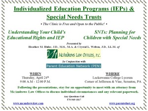 April 24 Education Clinic and SNT