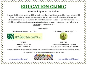 April 27 Education Clinic