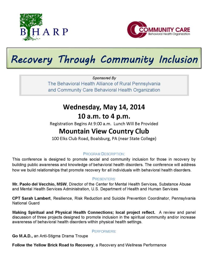Recovery Through Community Inclusion FLYER_Page_1