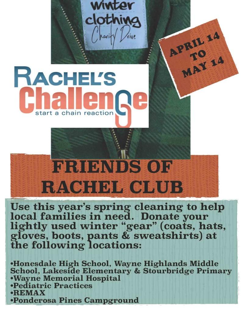 Rachel's Challenge Clothing Drive