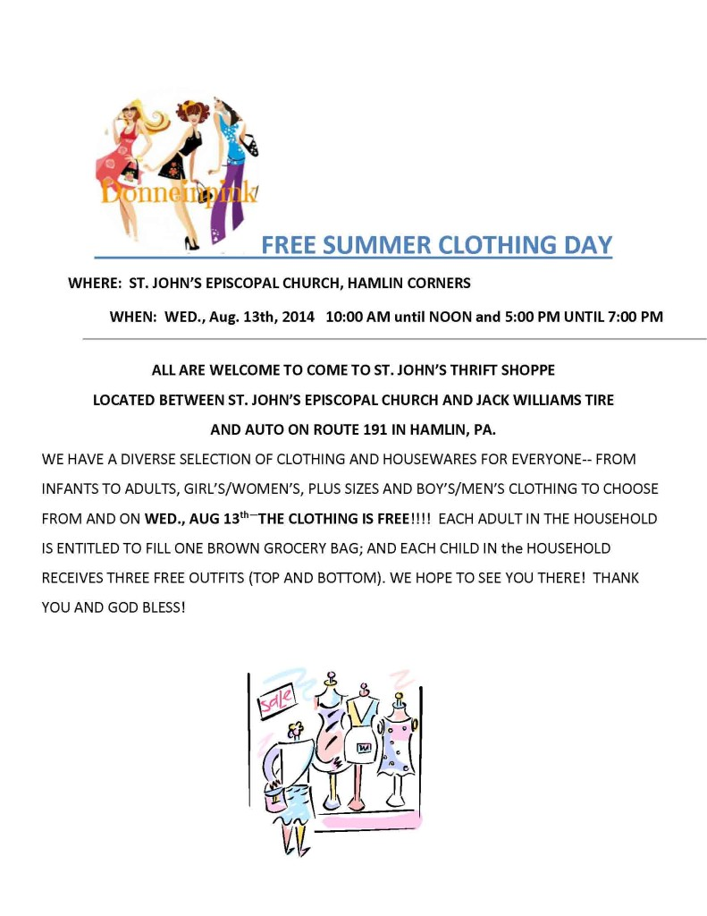 FREE SPRING CLOTHING DAY