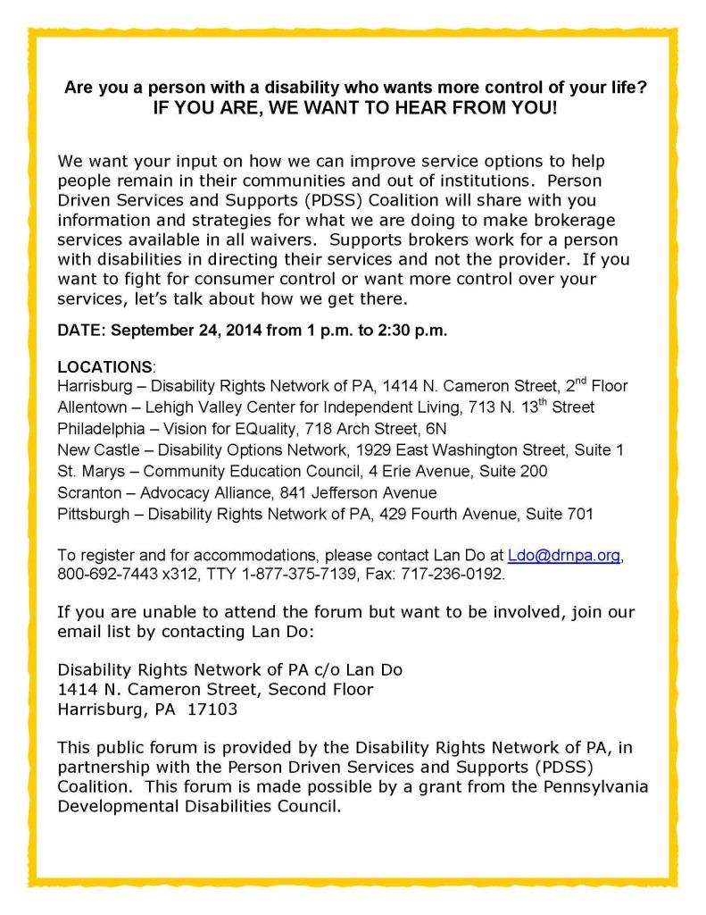 Public Forum flyer II