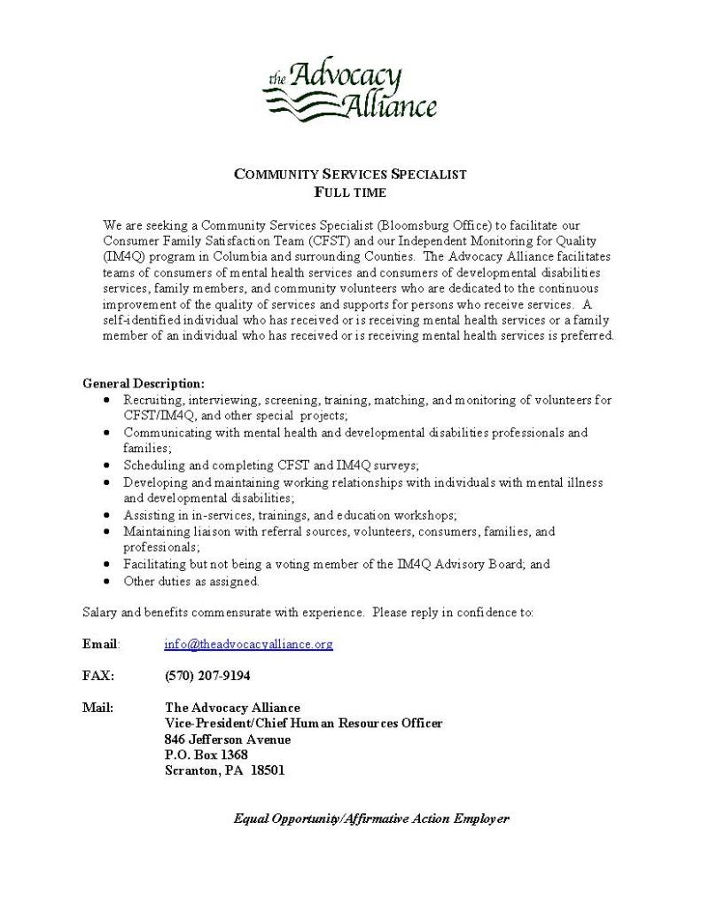 Community Services Specialist CST-IM4Q Bloomsburg (2) (2) (2)