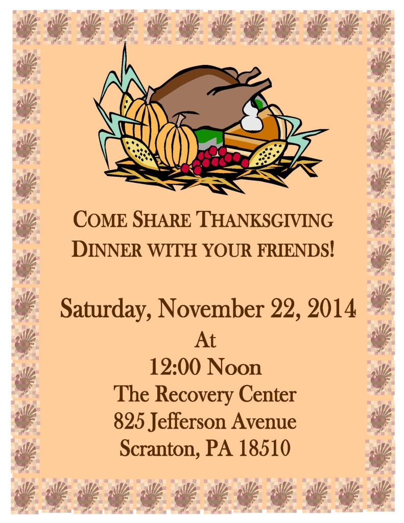 thanksgiving dinner sign_2014