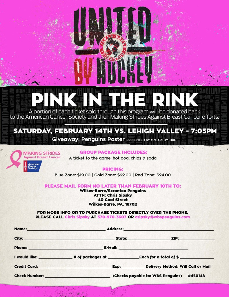 February 14th - Pink in the Rink