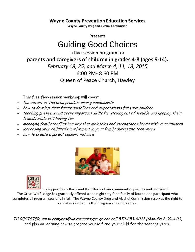 Guiding Good Choices flyer Spring 2015