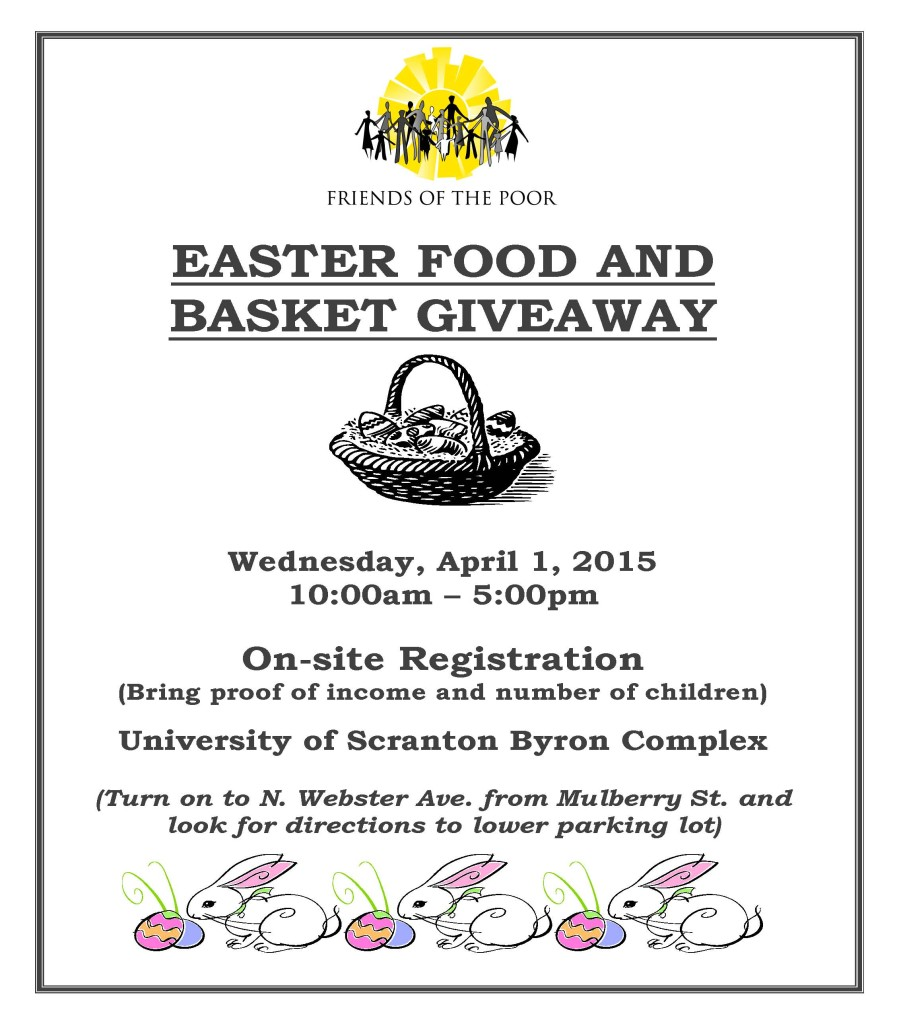Easter Food Giveaway Flyer 2015