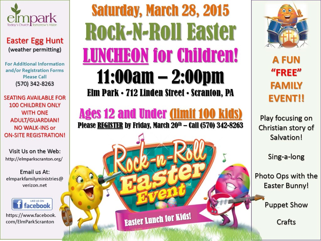 Rock-n-Roll Easter Flyer - 2015 - Easter Lunch