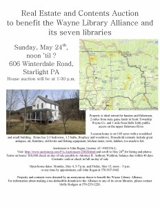 Auction to benefit the Wayne Library Alliance and its seven libraries