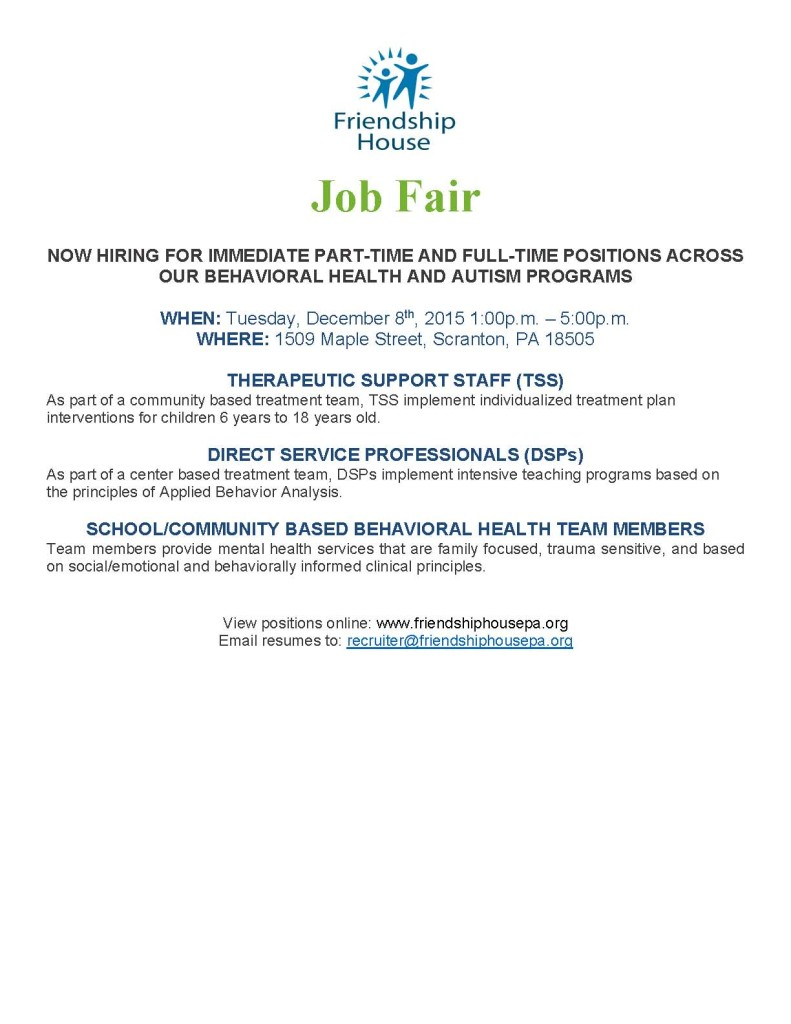 Job Fair Ad - Rev KM 11-25-15