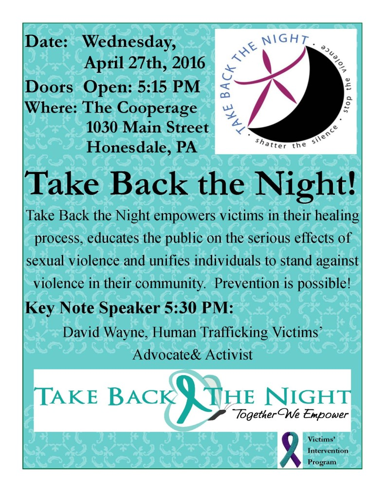 Take Back the Night Flyer 16