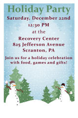 Recovery Center Holiday Party Poster